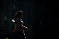 Morning Glimpse (dptro) Tags: girl walks outdoor silhouettes activity