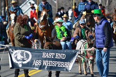 East End Ass Whisperers (Joe Shlabotnik) Tags: ass whisper banner donkey parade 2013 whisperers eeaw march2013