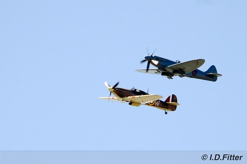 BBMF Spitfire and Hurricane Flypast - Battle of the Atlantic