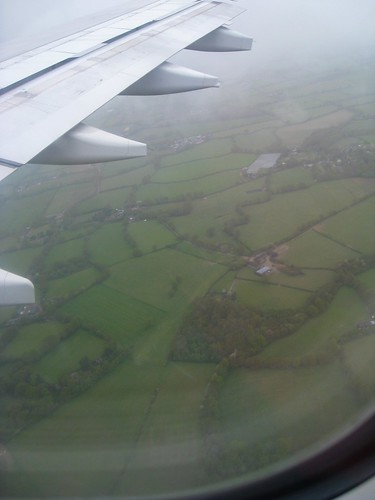 Lush green English fields
