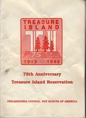Treasure Island 75th Anniversary Pamphlet (wiesefamilyphotos) Tags: boy island treasure anniversary scouts 75th bsa