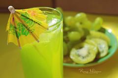 Fresh (Rania Mahfouz) Tags: summer hot green colors yellow fruit juice fresh grapes kiwi