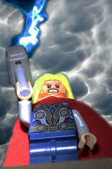 thor (leap226) Tags: sky storm clouds toy lego cielo nubes lightning thor juguete rayos