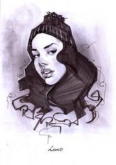 325454 (LeanThirteen) Tags: portrait woman cute sexy art girl face hat female pencil ink graffiti sketch gangster drawing johnson sketchbook study doodle marker hip hop ericanthony lean13 leanthirteen