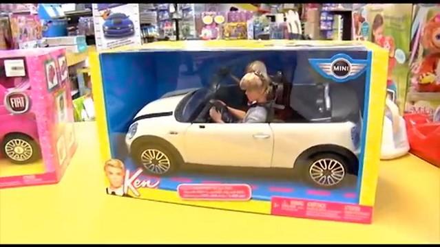 new white news car blog doll ken barbie mini cooper mattel 2013