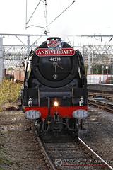 "46233 ""Duchess of Sutherland"" at Crewe Station (Peter J Bailey - Saxon Studio) Tags: uk station train cheshire pacific princess anniversary 1938 engine class steam september crewe perth sutherland 75th built coronation duchess 462 lmsr 2013 46233 peterjbailey"