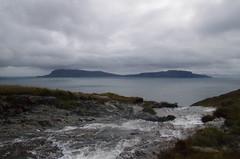 River crossing on coast path in a storm (ttwff) Tags: isle rum isles island islands scotland highlands uk britain backpacking travel holiday hiking hike hikes walk walking walks isleofrum coastpath river storm
