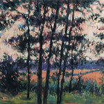 "<b>Woods & Bright Field</b><br/> Coleman (Pastel)<a href=""http://farm8.static.flickr.com/7336/10558330195_b009274003_o.jpg"" title=""High res"">∝</a>"