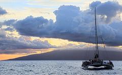 As Advertised (Team Hymas) Tags: ocean sunset hawaii islands pacific peaceful maui sail teamhymas trilogycatamaran