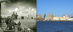 Pier Head, 1940s and 2013 (Keithjones84) Tags: liverpool merseyside oldliverpool thenandnow mersey rephotography