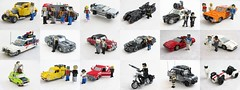 Movie and TV vehicle collection (Mad physicist) Tags: film movie tv lego vehicles