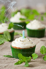Mint cupcakes (Oxana Denezhkina) Tags: birthday light party food holiday green love home cup cake closeup dessert one colorful candle heart bright sweet anniversary background object space small decoration cream mint tasty nobody fresh gourmet celebration homemade cupcake sprinkles snack pastry frosting unhealthy baked decorated buttercream
