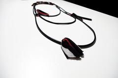collana_caucciù e stoffa_black&red