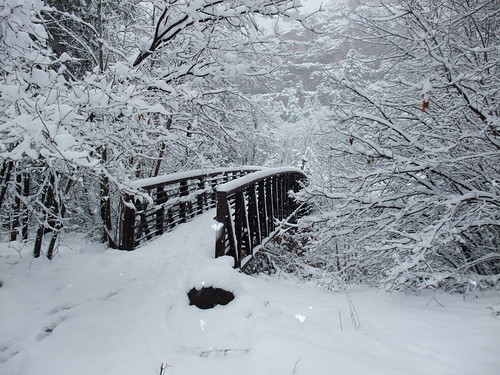 Snow Covered Bridge on Oak Creek Trail