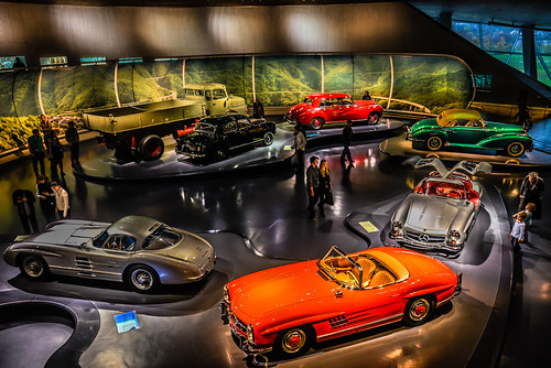 Post WW2 Miracle Gallery at Mercedes-Benz Museum Stuttgart Germany