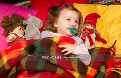 Toddler girl playing nap time with her dolls (Fon-tina) Tags: pink peop