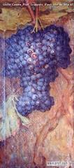 Giulio Cesare Prati Grappolo d'uva olio su tela 67 5x31 5cm Collezione privata