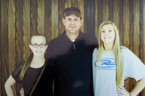 Michael Young, son of Sandra (Copeland) Young and grandson of Dewey and Lockie (Marshall) Copeland, with his daughters Payton and Mallory.