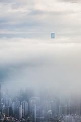 Wave of Clouds. (bgfotologue) Tags: china city morning hk sun sunrise landscape hongkong lights twilight glow cityscape central peak rise 香港 ifc 風景 hongkongisland victoriaharbour 太平山 boc 日出 維港 維多利亞港 山頂 peaksunrise