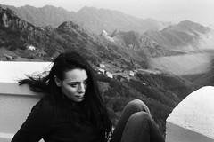 up on mountain road with nice views (gorbot.) Tags: winter portrait blackandwhite mountains panoramic tenerife roberta m43 anaga silverefex micro43 microfourthirds panasoniclumixgf1 20mmlumixf17