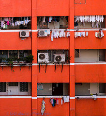 Red Apartments!! (Keith Mulcahy) Tags: morning red people buildings hongkong apartments streetphotography jordan housing kowloon canon70200mmf28 canon5dmk3 keithmulcahy january2014 blackcygnusphotography ppa7a0 ppd56c