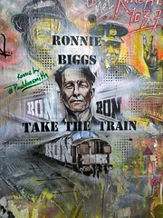 Ronnie Biggs by DON (nolionsinengland) Tags: don ronniebiggs hanburyst pauldonsmith overdonlined