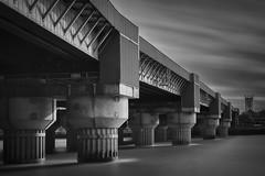 Victorian Logistics (Jarrad.) Tags: longexposure london thames train blackwhite nikon architectural nd cannonstreetrailwaybridge d700 stratatower vision:mountain=0526 vision:sky=0704 vision:outdoor=0637