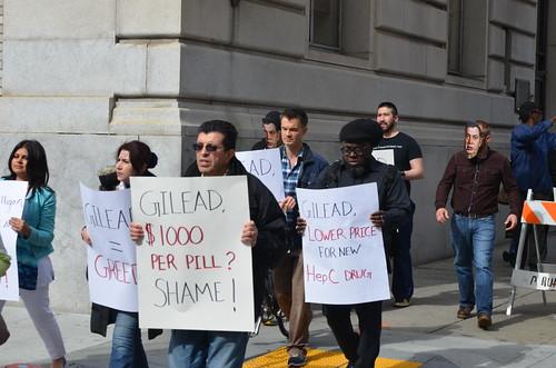 Gilead Sovaldi Protest - San Francisco (2/12/14)