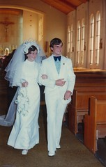 Wedding 1974 (Old Family Images) Tags: bw woman white black film church beauty 35mm for iso100 1974 blackwhite natural young mother charm her professional health 35mmfilm ready getting care youngwoman hermother stonestreet 40yearsago healthcareprofessional gettingreadyfor1974