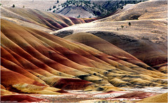 Painted Hills - John Day Fossil Beds National Monument - Wheeler County, Oregon (West County Camera) Tags: platinumheartaward gününeniyisithebestofday mygearandme mygearandmepremium mygearandmebronze mygearandmesilver mygearandmegold mygearandmeplatinum mygearandmediamond dblringexcellence tplringexcellence