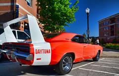 1969 Dodge Charger Daytona (Chad Horwedel) Tags: orange classic car illinois dodge daytona charger downersgrove dodgechargerdaytona downersgrovecruisenights 1969dodgechargerdaytona