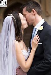 church kiss (MathewKendallPhotography) Tags: wedding tiara love church groom bride kiss kissing married veil marriage weddings weddingdress inlove firstkiss