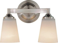 Murray Feiss VS9402-BS Two-Light Paris Moderne Collection Vanity Strip, Brushed Steel with White Opal Etch Glass Shades (bestkitchenaccessories) Tags: white paris glass steel vanity shades moderne collection strip opal murray etch brushed feiss twolight vs9402bs