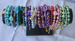Spring 2014 - Bracelets collection (klio1961) Tags: original summer arcoiris easter diy beads spring rainbow handmade unique oneofakind pearls jewellery gifts bracelets imadethis madebyme authentic imadeit artesania vividcolors unico joyas pulseras softcolors hechoamano nicelittlethings kosmimata braxiolia xeiropoiito vraxiolia