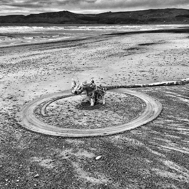 Porth Neigwl #wales #cymru #surreal42 #blackandwhite #beach #artwork