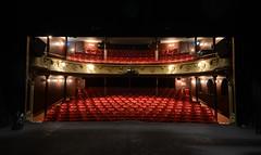 On Stage (henriksundholm.com) Tags: dark design theater shadows chairs sweden stockholm sdermalm interior stage rows seats backpack sverige lamps pillars sdrateatern mosebacketorg mosebacke storascenen riksteatern