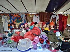 Street market in Cambronne, Paris (Eleanna Kounoupa) Tags: paris france colors hats streetmarket cambronne