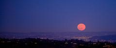 The Moon Rises Fast 8 (colbertdavis) Tags: sunset moonrise griffithpark glendalepeak afsnikkor200mm12ged
