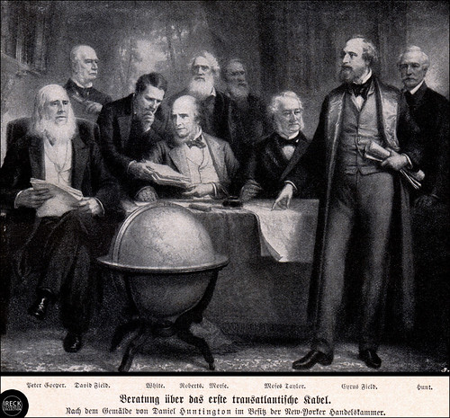 Beratung über das erste transatlantische Kabel - New York, Newfoundland and London Telegraph Company