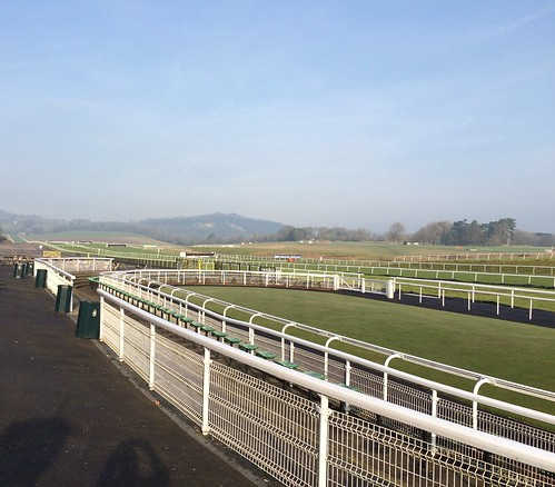 Chepstow Racecourse and the paddock