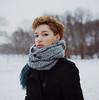 Cheril-10 (guarionex_jr) Tags: winter cold 6x6 film scarf mediumformat hair kodak short dominicana shorthair curlyhair kodakportra400 bigscarf cheril