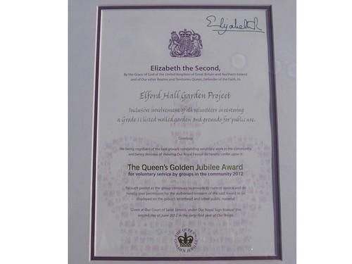 Queen's Award Certificate