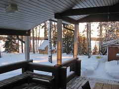 Puumerkki Cottage Terrace Winter