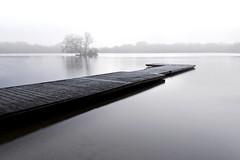 The pontoon at Petersfield Lake, Hampshire (Explored) (Simon Verrall) Tags: longexposure lake water december jetty hampshire pontoon petersfield