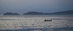 BLUE COAST (TOMJAAM) Tags: camera sea peru beautiful fog canon landscape eos coast boat mar alone shot lima solo sanlorenzo capture isla miraflores pacifico oceano pescadores callao azulcieloskyblue