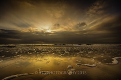 Heavenly Dawn (RTA Photography) Tags: sea sky sunrise reflections dawn golden sand devon preston paignton rtaphotography