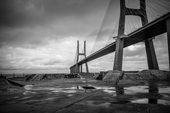 The Bridge (humberto_joaquim) Tags: bridge bw landscape landscapes lisboa lisbon bridges blacknwhite bnw