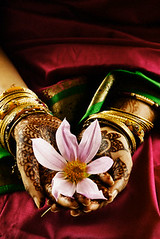 42-15425562 (pozniakliuda) Tags: red people flower beauty metal gold 1 clothing holding women asians jewelry bracelet indians bangle bodypainting females tradition adults sari mehndi costumeclothingandfashion youngadults southasians traditionalclothing 20sadult 2025years