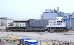 EMDX 91 (GLC 392) Tags: new railroad test up train demo la illinois bed gm gloomy 4 railway testing il electro locomotive motive division brand grange 91 unit lagrange emd teir emdx sd90mach sd89mac sd70acet4 gm91