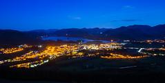 On the edge (Ian Allon) Tags: longexposure england landscape cityscape unitedkingdom dusk streetlights sony lakedistrict gb derwentwater bluehour keswick samyang a6000 allerdaledistrict